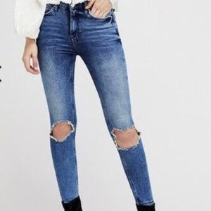 Free People Busted Knee High Rise Skinny Jeans-28
